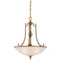 Designers Fountain Isla 3 Light Inverted Pendant in Aged Brass 85631-ABS