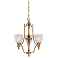 Designers Fountain Isla 3 Light Chandelier in Aged Brass 85683-ABS
