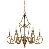 Designers Fountain Isla 6 Light Chandelier in Aged Brass 85686-ABS