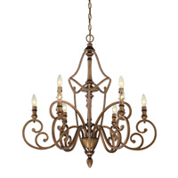Designers Fountain Isla 9 Light Chandelier in Aged Brass 85689-ABS