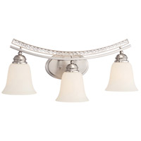 Grand Plazza 3 Light 24 inch Satin Platinum Bath Bar Wall Light