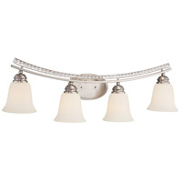 Designers Fountain Grand Plazza 4 Light Bath Bar in Satin Platinum 85704-SP