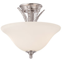Grand Plazza 2 Light 120 Satin Platinum Semi-Flush Ceiling Light