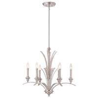 Designers Fountain 85786-SP Grand Plazza 6 Light 25 inch Satin Platinum Chandelier Ceiling Light