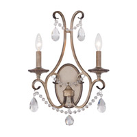 Gala 2 Light 14 inch Argent Silver Wall Sconce Wall Light