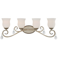 Gala 4 Light 31 inch Argent Silver Bath Bar Wall Light