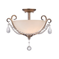 Designers Fountain Gala 2 Light Semi-Flush Mount in Argent Silver 86011-ARS