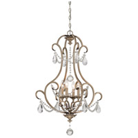 Gala 4 Light 25 inch Argent Silver Foyer Ceiling Light