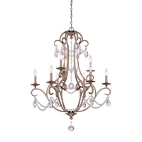 Gala 9 Light 32 inch Argent Silver Chandelier Ceiling Light