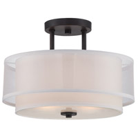 Fusion 2 Light 120 Biscayne Bronze Semi-Flush Ceiling Light