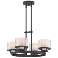 Designers Fountain Fusion 4 Light Chandelier in Biscayne Bronze 86184-BBR
