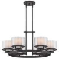 Fusion 6 Light 28 inch Biscayne Bronze Chandelier Ceiling Light