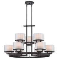 Fusion 9 Light 32 inch Biscayne Bronze Chandelier Ceiling Light