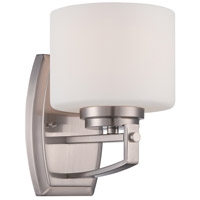 Axel 1 Light 5 inch Satin Platinum Wall Sconce Wall Light