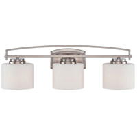 Designers Fountain Axel 3 Light Vanity Light in Satin Platinum 86203-SP