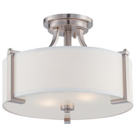 Axel 2 Light 120 Satin Platinum Semi-Flush Ceiling Light