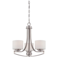 Axel 3 Light 11 inch Satin Platinum Chandelier Ceiling Light