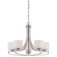 Axel 5 Light 27 inch Satin Platinum Chandelier Ceiling Light