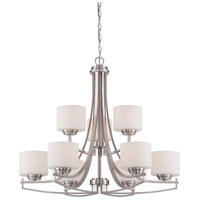 Designers Fountain Axel 9 Light Chandelier in Satin Platinum 86289-SP
