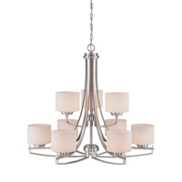 Axel 9 Light 32 inch Satin Platinum Chandelier Ceiling Light