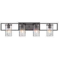 Elements 4 Light 31 inch Charcoal Bath Bar Wall Light
