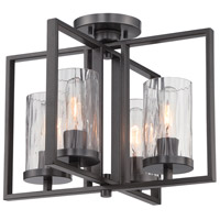 Elements 4 Light 120 Charcoal Semi-Flush Ceiling Light
