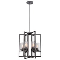Designers Fountain 86556-CHA Elements 4 Light 18 inch Charcoal Foyer Ceiling Light