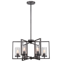 Elements 6 Light 25 inch Charcoal Chandelier Ceiling Light