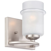 Omega 1 Light 7 inch Satin Platinum Wall Sconce Wall Light