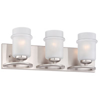 Designers Fountain Omega 3 Light Vanity Light in Satin Platinum 86603-SP
