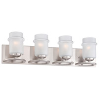 Designers Fountain Omega 4 Light Vanity Light in Satin Platinum 86604-SP