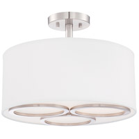 Designers Fountain Omega 3 Light Semi-Flush Mount in Satin Platinum 86611-SP