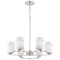Omega 6 Light 26 inch Satin Platinum Chandelier Ceiling Light