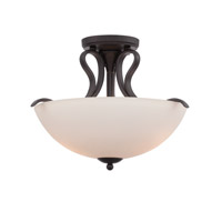 Galena 2 Light 120 Oil Rubbed Bronze Semi-Flush Ceiling Light