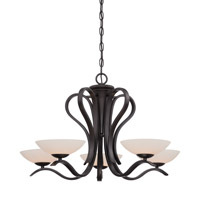 Galena 5 Light 28 inch Oil Rubbed Bronze Chandelier Ceiling Light