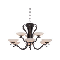 Designers Fountain Galena 9 Light Chandelier in Oil Rubbed Bronze 86789-ORB