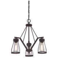 Brooklyn 3 Light 21 inch Bronze Chandelier Ceiling Light
