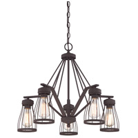 Brooklyn 5 Light 25 inch Bronze Chandelier Ceiling Light