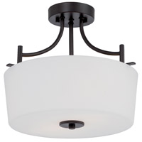Cassina 2 Light 120 Biscayne Bronze Semi-Flush Ceiling Light