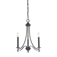 Cassina 3 Light 18 inch Biscayne Bronze Chandelier Ceiling Light