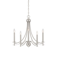 Cassina 5 Light 23 inch Satin Platinum Chandelier Ceiling Light