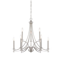 Designers Fountain Cassina 9 Light Chandelier in Satin Platinum 86989-SP