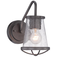 Designers Fountain Darby 1 Light Wall Sconce in Weathered Iron 87001-WI