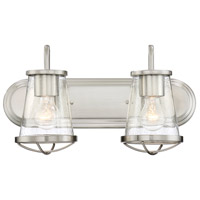 Darby 2 Light 18 inch Satin Platinum Bath Bar Wall Light