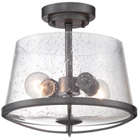 Darby 2 Light 120 Weathered Iron Semi-Flush Ceiling Light