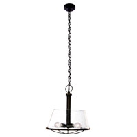Designers Fountain Darby 3 Light Pendant in Weathered Iron 87031-WI