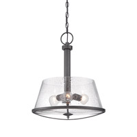 Darby 3 Light 120 Weathered Iron Pendant Ceiling Light