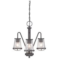 Designers Fountain Darby 3 Light Chandelier in Weathered Iron 87083-WI