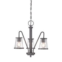 Darby 3 Light 18 inch Weathered Iron Chandelier Ceiling Light