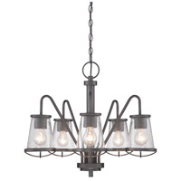 Darby 5 Light 23 inch Weathered Iron Chandelier Ceiling Light